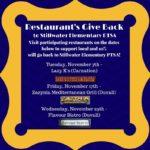 Restaurants Give Back / New Fundraiser