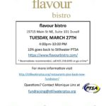 Join us for Restaurants Give Back at flavour bistro – Tuesday, March 27th